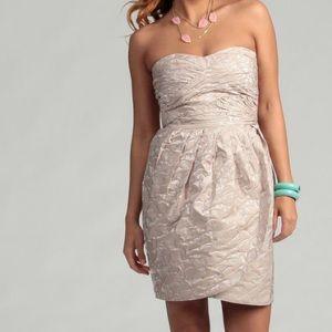 Max & Cleo Sleeveless Pleated Bodice Dress Size 8